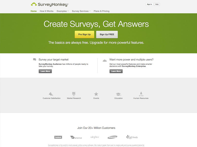 survey-monkey online tools for startup businesses